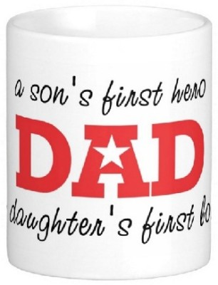 Easyhome My Dad First Hero Ceramic Mug