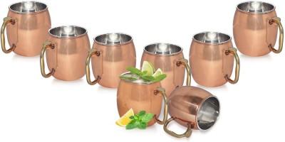 Dungri India Craft Set Of 8, Copper Moscow Mule Vodka Beer  Copper Mug