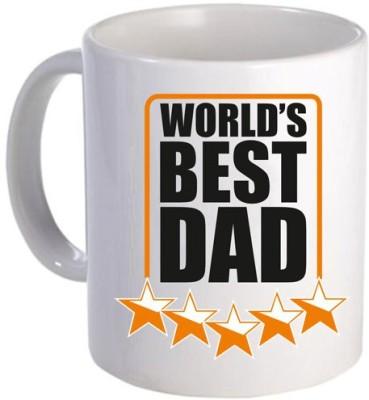 Giftsmate Starry Worlds Best Dad Ceramic Mug