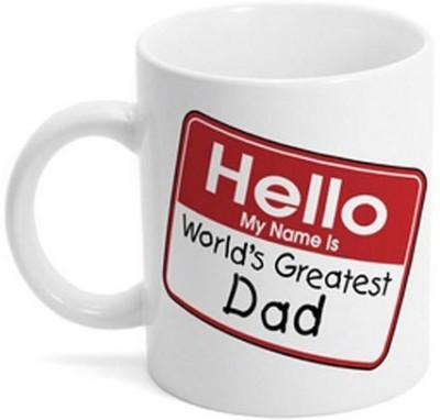 Giftsmate Hello Worlds Greatest Dad Ceramic Mug