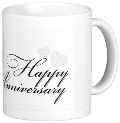 Easyhome Happy Anniversary Ceramic Mug