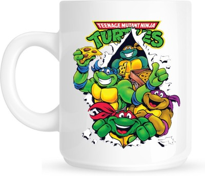 Huppme Teenage Ninja Turtle White  Ceramic Mug