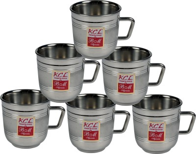 KCL 3D Style 6pc Stainless Steel Mug