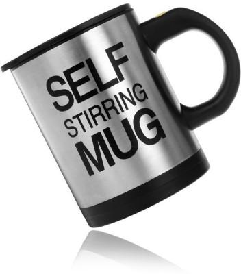 eDeal Standerd Self Stirring Stainless Steel, Plastic Mug