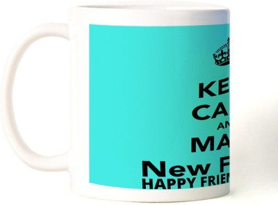 Rockmantra Make New Friend Happy Friendship Day Ceramic Mug