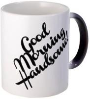 Muggies Magic Good Morning Handsome! Unique Coffee, 11oz Coffee Cup Ceramic Mug(325 ml) best price on Flipkart @ Rs. 449