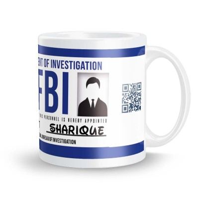 posterchacha Sharique FBI ID Tea And Coffee Ceramic Mug(300 ml)