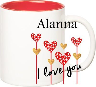 Huppme I Love You Alanna Inner Red  (350 ml) Ceramic Mug