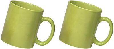 Snapgalaxy Green Combo of 2 pcs Ceramic Mug