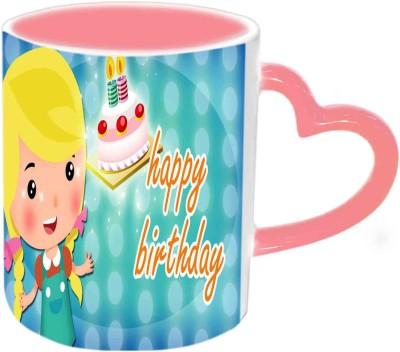 Jiya Creation1 Happy Birthday Doll Multicolor Ceramic Mug