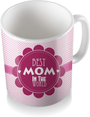 SKY TRENDS GIFT Best Mom In The World With Flower Gifts For Mother,s Day Ceramic Coffee  Ceramic Mug