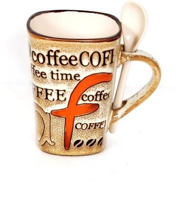 DRL F Coffee Brown Porcelain Mug