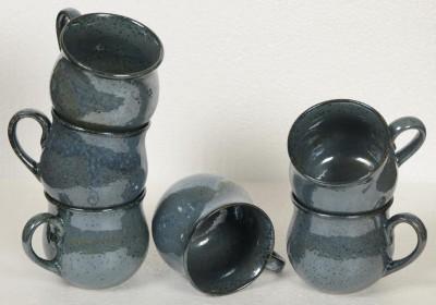 Inhomez Blue Studio Stoneware Ceramic Tea Cup- Set of 6 Ceramic, Pottery Mug
