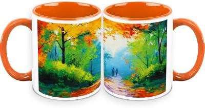 HomeSoGood Lets Walk On The Streets Of Nature Ceramic Mug