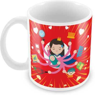 Fashion Envoy Delightful Super Mom  Ceramic Mug