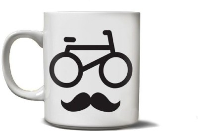 Beard India Cycle Stache Coffee  Ceramic Mug
