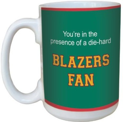 Tree-Free Greetings Greetings lm44922 Blazers College Basketball Ceramic  with Full-Sized Handle, 15-Ounce Ceramic Mug