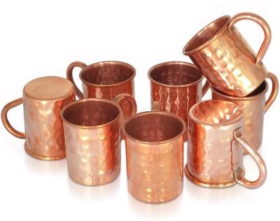 Dungri India Craft Set of 8, 100 % copper 70 ML / 2.3 oz SHOT Moscow Mule Vodka  - Cocktail SHOT MUG Copper Mug