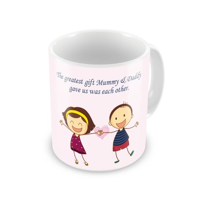 Home India Joyful Brother n Sister Printed Design Coffee  531 Ceramic Mug