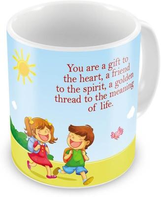 Indian Gift Emporium Brother n Sister Going School Printed Coffee  529 Ceramic Mug