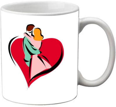 Romanshopping Couple in Heart  Bone China Mug