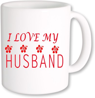 A Plus i love my husband.jpg Ceramic Mug