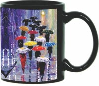 Printland Printland Umbrella Black Coffee 350 - ml Ceramic Mug(350 ml) best price on Flipkart @ Rs. 349