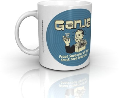 Bcreative Ganja Proud Supporter Of The Snack Food Industry (Officially Licensed) Ceramic Mug