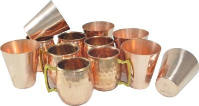 Dakshcraft Serveware Drinks with shot cups & straw Copper Mug