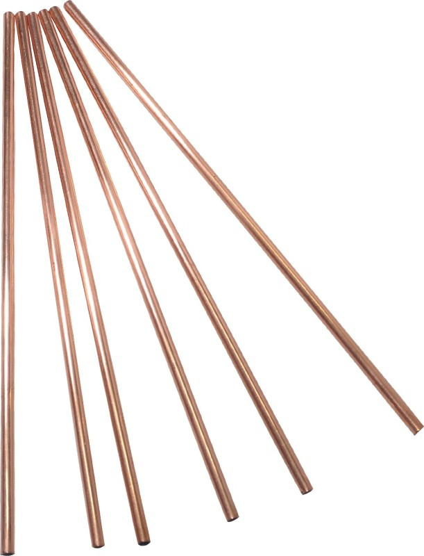 Dakshcraft Straight Drinking Straw(Gold, Pack of 6)