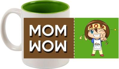 Huppme Wow Mom Inner Green  Ceramic Mug