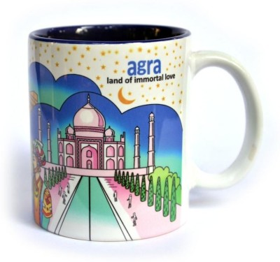 Indiavibes Coffee & Tea Agra Theme Printed Ceramic Ceramic Mug