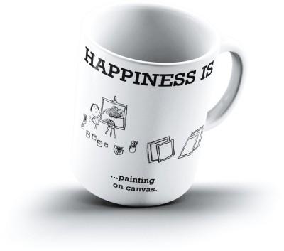 Ucard Happiness Is1533 Bone China, Ceramic, Porcelain Mug