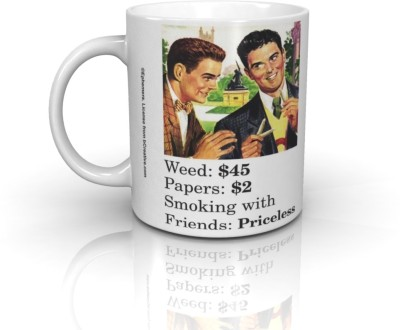 Bcreative Weed Papers Smoking With Friends (Officially Licensed) Ceramic Mug