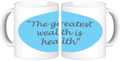 Shopmillions Health Is Wealth Ceramic Mug