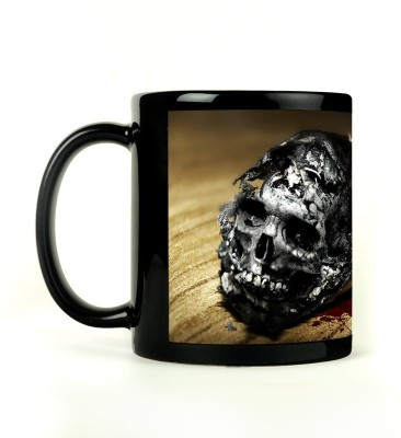 Shoperite Skull Smoke Ceramic Mug