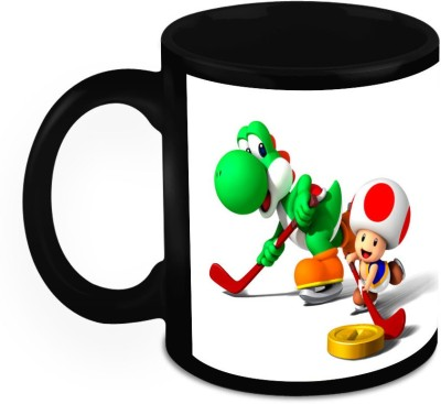 HomeSoGood Playing The Ice Hockey Ceramic Mug