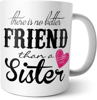 Chiraiyaa Happy Raksha Bandhan - Rakhi - Sister Friend - Quote Ceramic Mug