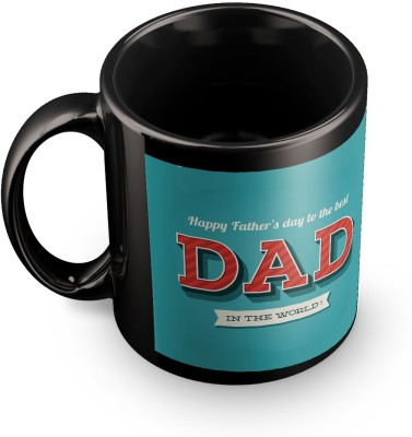 posterchacha To The Best Father In The World Happy Fathers Day Black Tea And Coffee Gift For Fathers Day Ceramic Mug