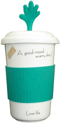 Just For Decor Fun With Grip & Hand Lid Ceramic Mug