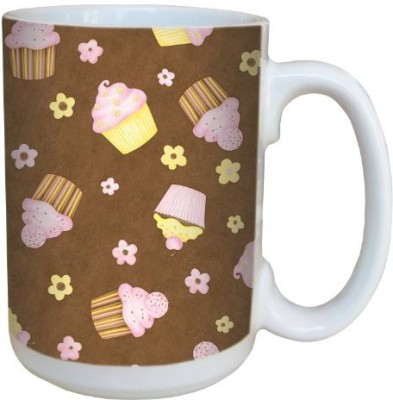 Tree-Free Greetings Greetings 79274 Funky Cupcakes by Debbie Mumm Ceramic  with Full-Sized Handle, 15-Ounce Ceramic Mug