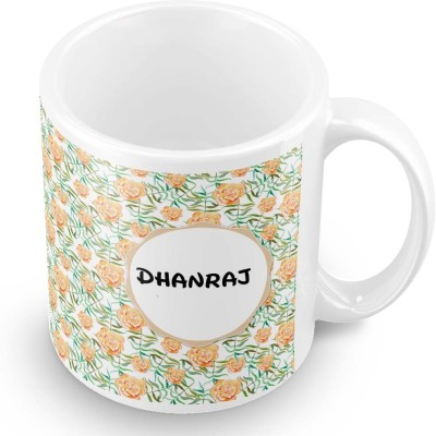 posterchacha Dhanraj Floral Design Name  Ceramic Mug