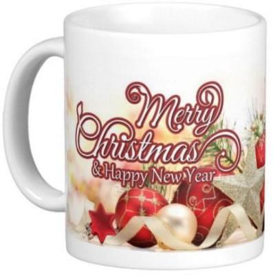 Easyhome Merry Christmas & New Year Celebration 350ml Ceramic Mug