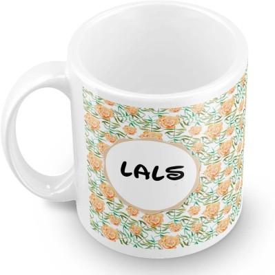 posterchacha Lals Floral Design Name  Ceramic Mug