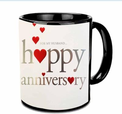 RajLaxmi Anniversary Wishes To My Husband Multicolor  Ceramic Mug