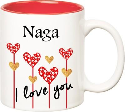 Huppme I Love You Naga Inner Red  (350 ml) Ceramic Mug