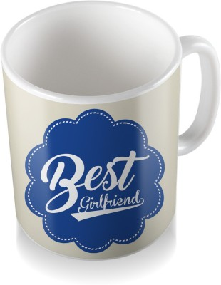 SKY TRENDS Best Girlfriend With Dark Blue Flower Unique Gifts For Birthday And Anniversary Coffee Ceramic Mug