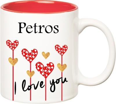 Huppme I Love You Petros Inner Red  (350 ml) Ceramic Mug