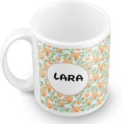 posterchacha Lara Floral Design Name  Ceramic Mug