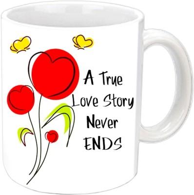 Jiya Creation valentine story white mug Ceramic Mug